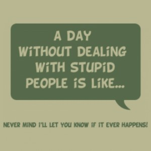 A day without dealing with stupid people is link