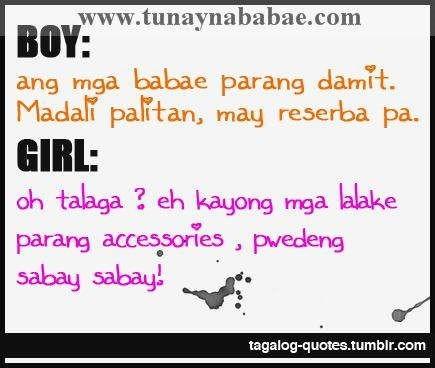 Boy ang mga babe parang damit madali palitan may reserba pa