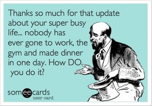 Thanks so much for that update about your super busy life