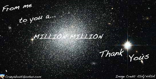 From me to you a million million thank yous