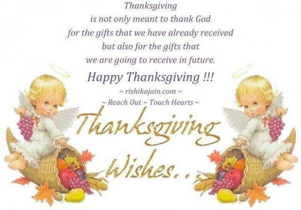 Thanksgiving is not only meant to thank god for the gifts that we have already recei
