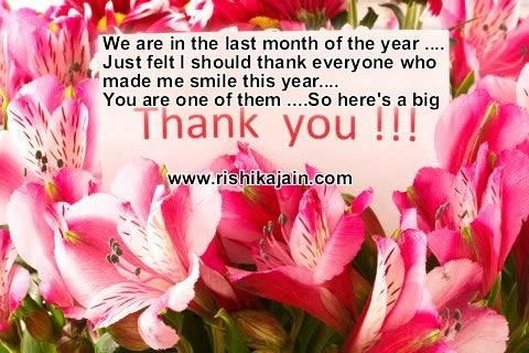 We are in the last month of the year just felt i should thank everone who made me sm