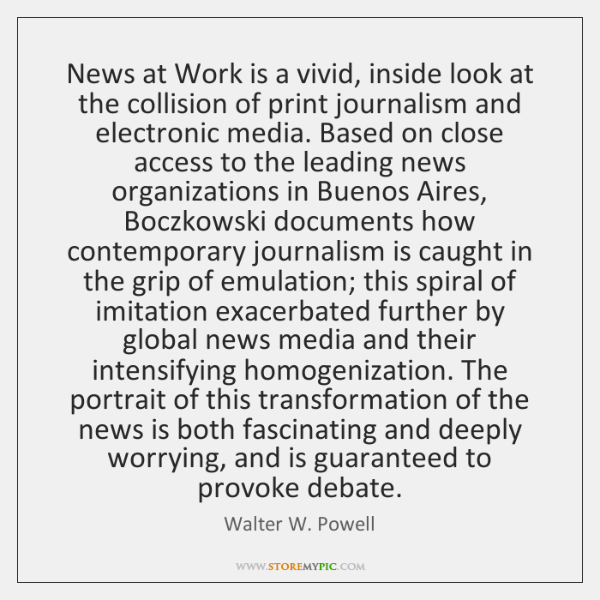 News at Work is a vivid, inside look at the collision of ...