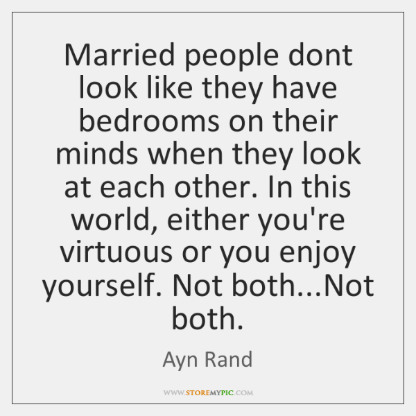 Married people dont look like they have bedrooms on their minds when ...