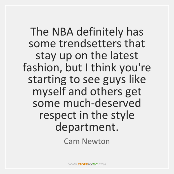 The NBA definitely has some trendsetters that stay up on the latest ...