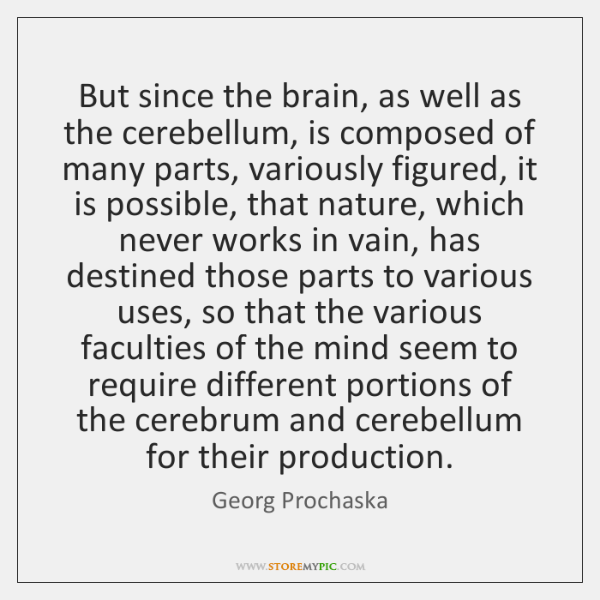 But since the brain, as well as the cerebellum, is composed of ...