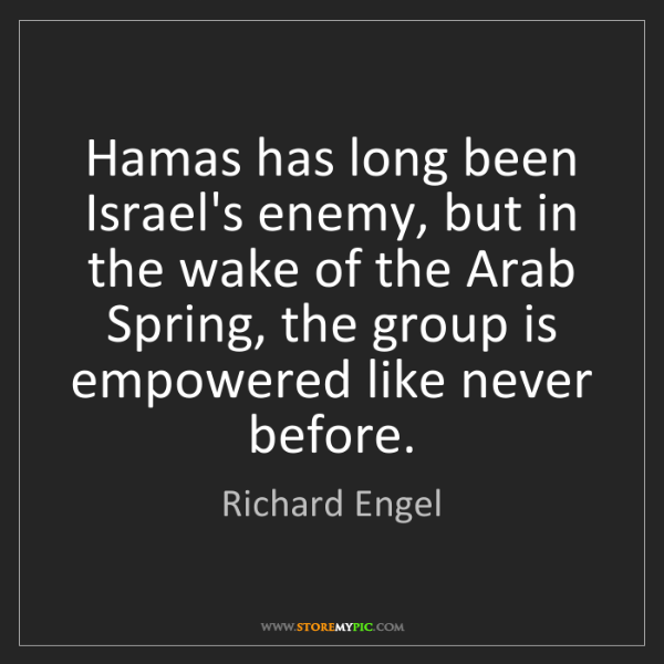 Richard Engel: Hamas has long been Israel's enemy, but in the wake of...