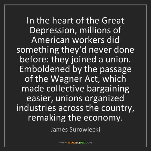 James Surowiecki: In the heart of the Great Depression, millions of American...