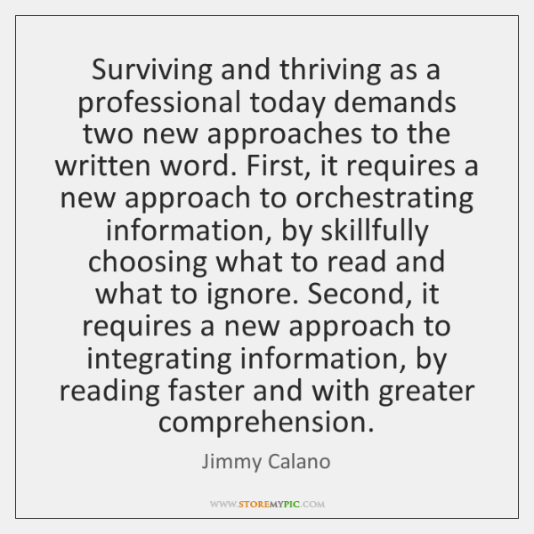 Surviving and thriving as a professional today demands two new approaches to ...