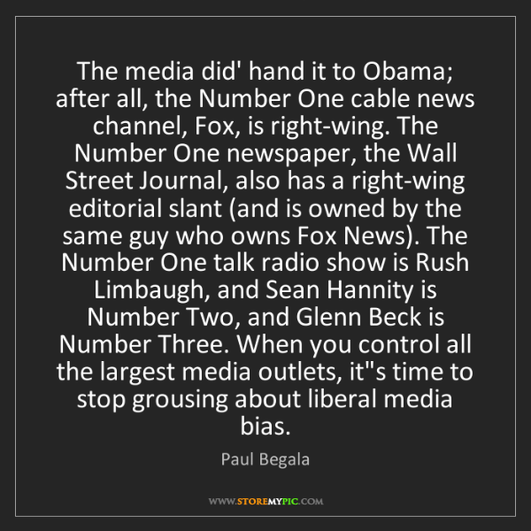 Paul Begala: The media did' hand it to Obama; after all, the Number...