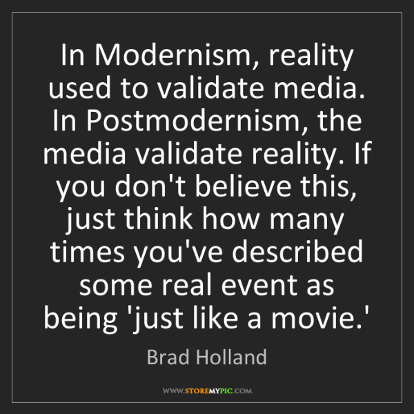 postmodernism and media