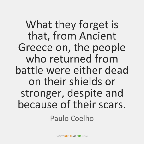 What they forget is that, from Ancient Greece on, the people who ...