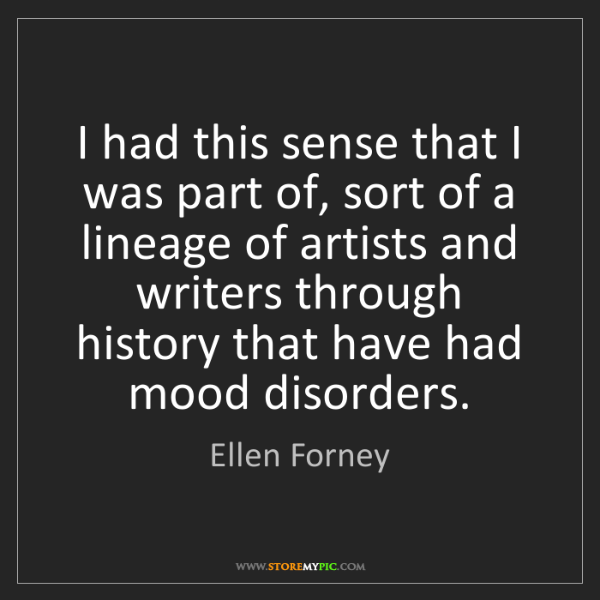Ellen Forney: I had this sense that I was part of, sort of a lineage...