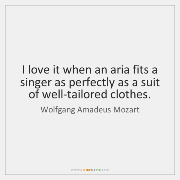 I love it when an aria fits a singer as perfectly as ...