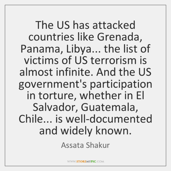 The US has attacked countries like Grenada, Panama, Libya... the list of ...