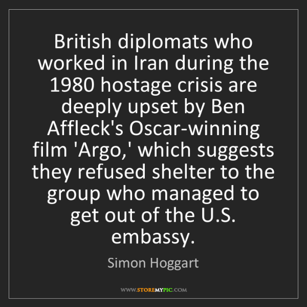 Simon Hoggart: British diplomats who worked in Iran during the 1980...
