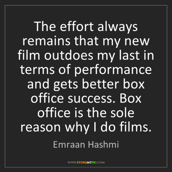 Emraan Hashmi: The effort always remains that my new film outdoes my...