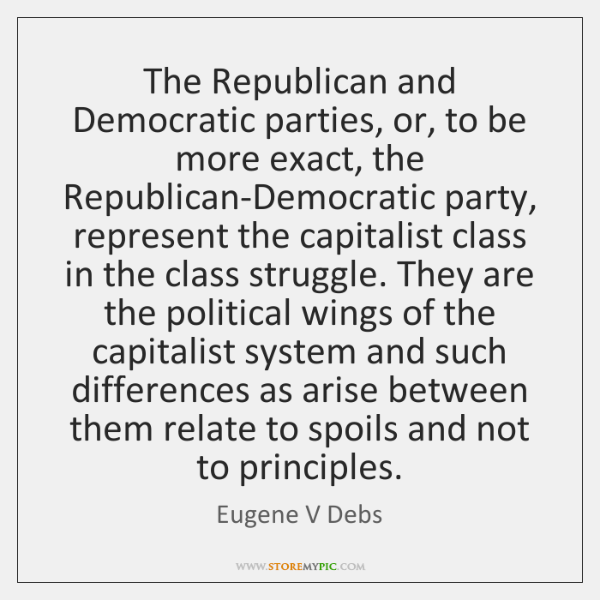 The Republican and Democratic parties, or, to be more exact, the Republican-Democratic ...