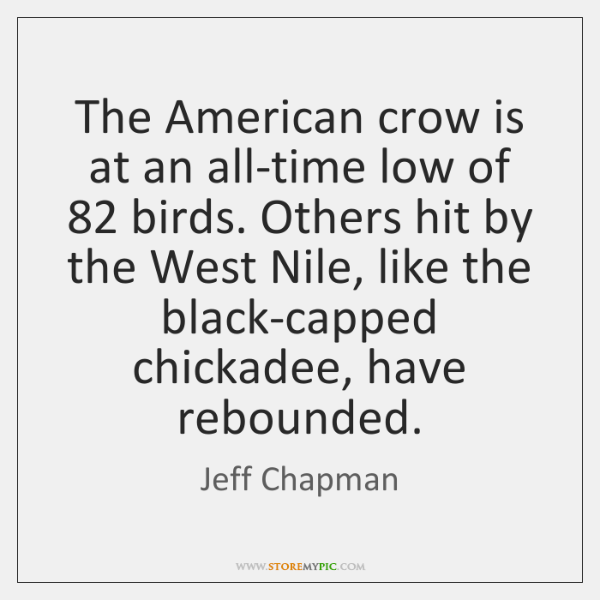 The American crow is at an all-time low of 82 birds. Others hit ...