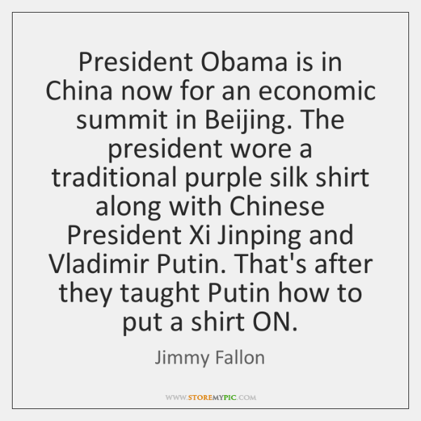 President Obama is in China now for an economic summit in Beijing. ...