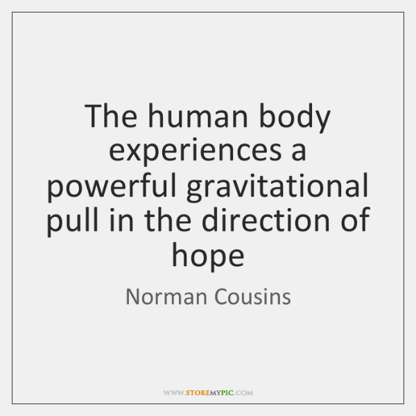 The human body experiences a powerful gravitational pull in the direction of ...