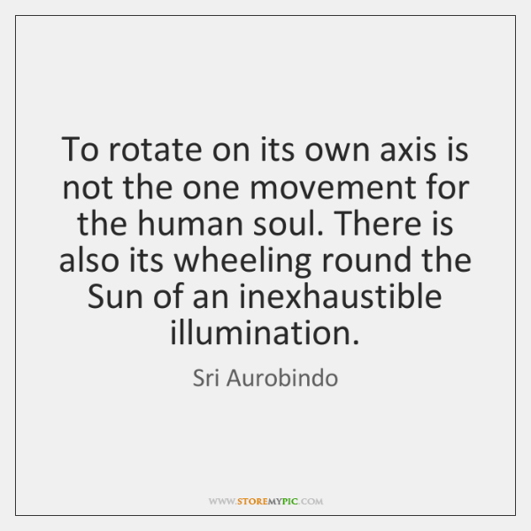 To rotate on its own axis is not the one movement for ...