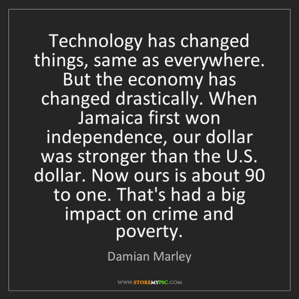 Damian Marley: Technology has changed things, same as everywhere. But...