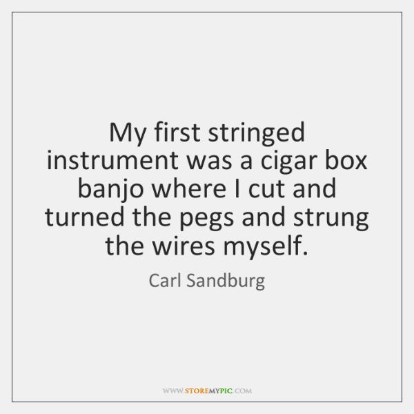 My first stringed instrument was a cigar box banjo where I cut ...