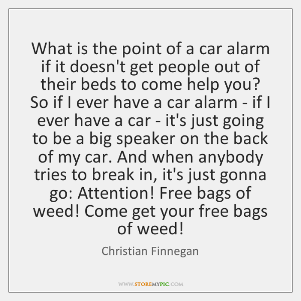 What is the point of a car alarm if it doesn't get ...