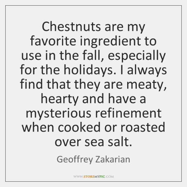Chestnuts are my favorite ingredient to use in the fall, especially for ...