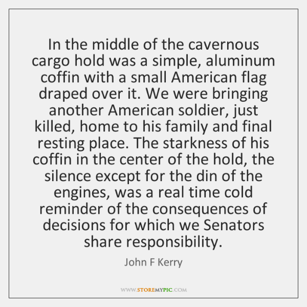 In the middle of the cavernous cargo hold was a simple, aluminum ...