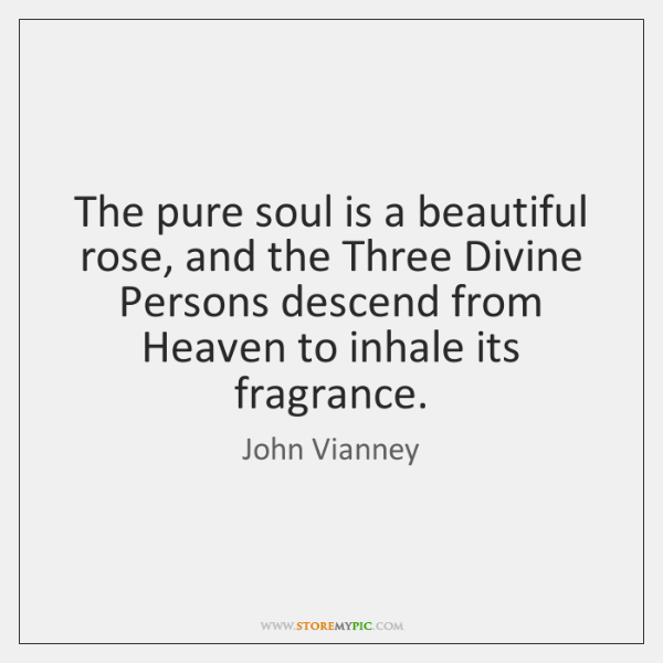 The pure soul is a beautiful rose, and the Three Divine Persons ...
