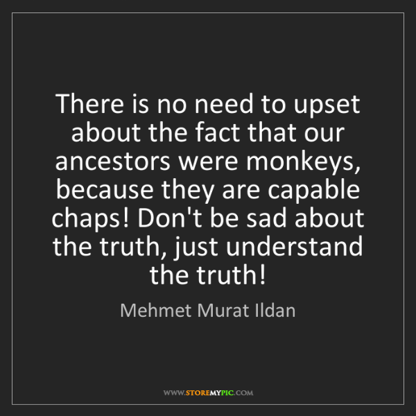 Mehmet Murat Ildan: There is no need to upset about the fact that our ancestors...