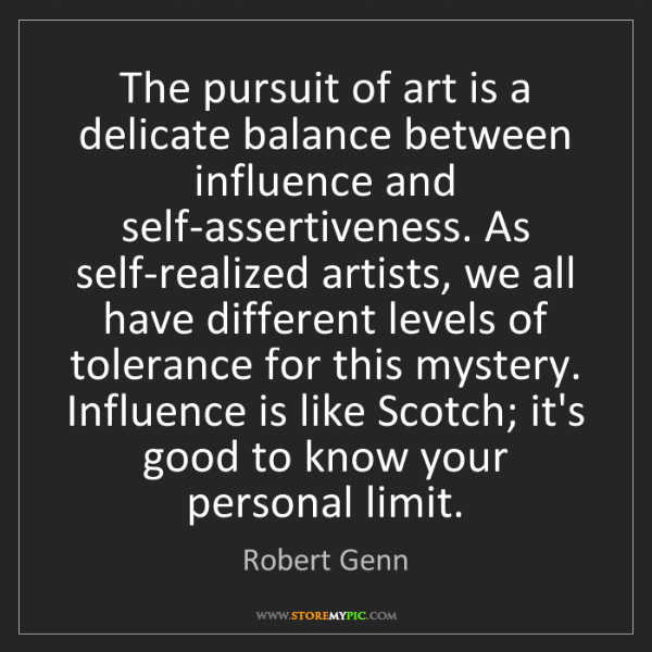 Robert Genn: The pursuit of art is a delicate balance between influence...