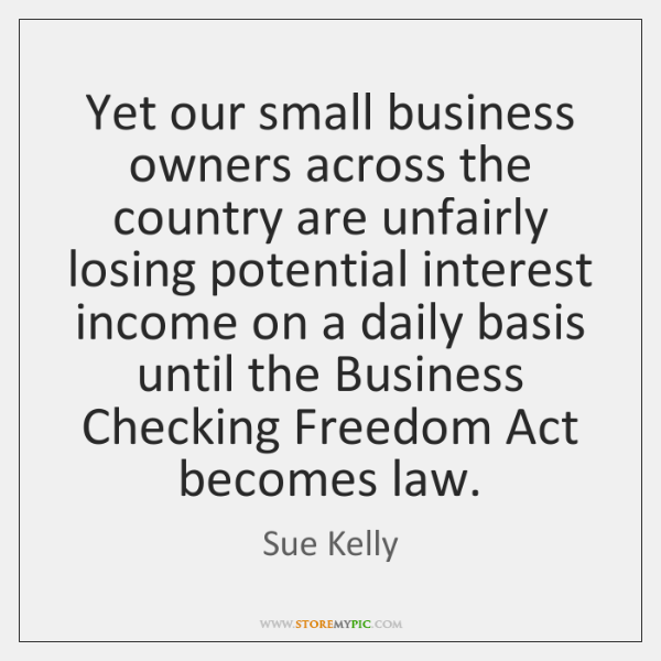 Yet our small business owners across the country are unfairly losing potential ...