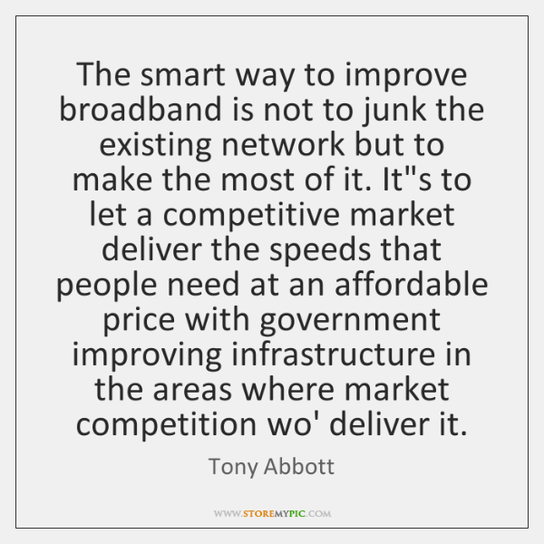 The smart way to improve broadband is not to junk the existing ...