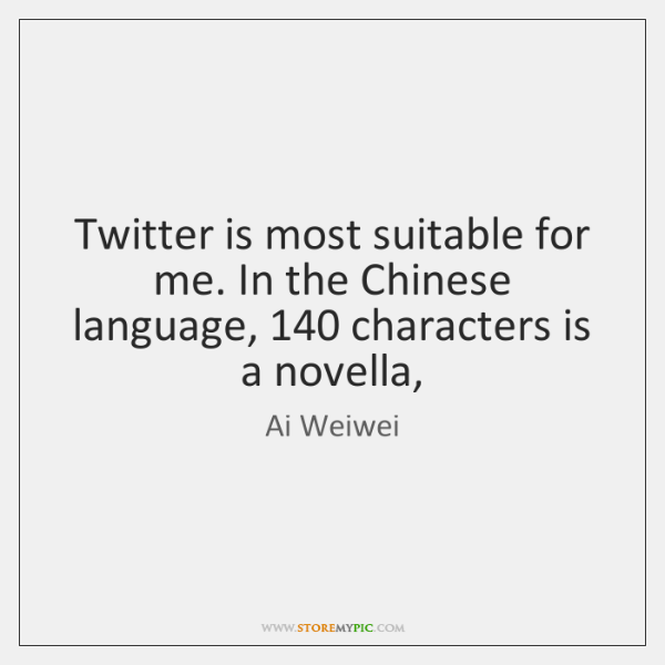 Twitter is most suitable for me. In the Chinese language, 140 characters is ...