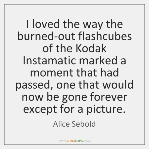 I loved the way the burned-out flashcubes of the Kodak Instamatic marked ...
