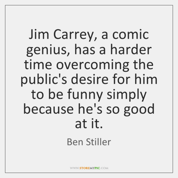 Jim Carrey, a comic genius, has a harder time overcoming the public's ...