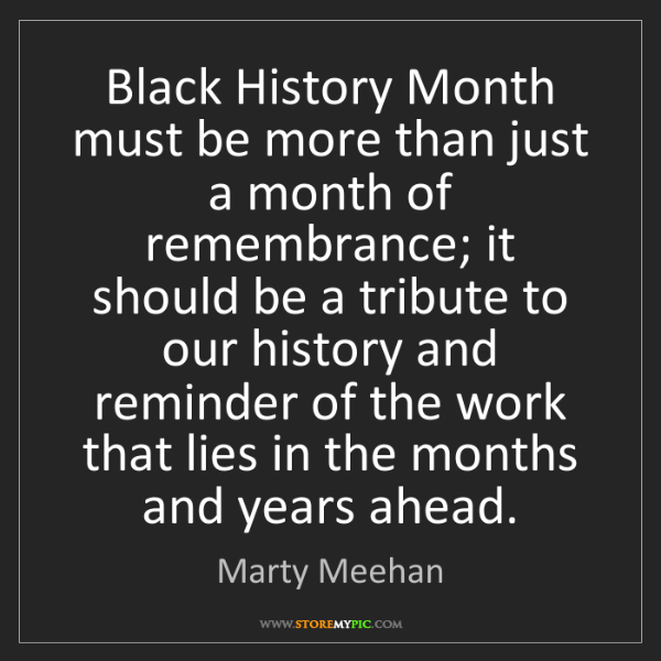 Marty Meehan: Black History Month must be more than just a month of...