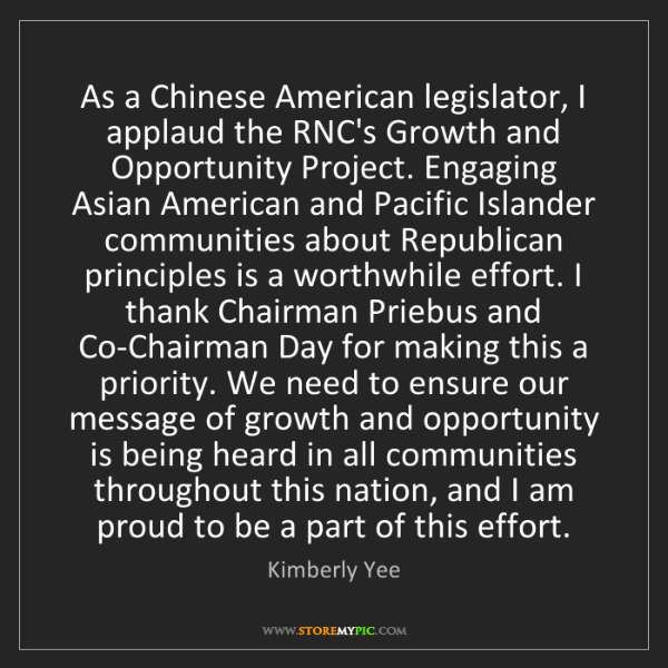 Kimberly Yee: As a Chinese American legislator, I applaud the RNC's...