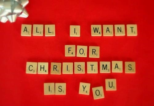All i want for charistmas is you