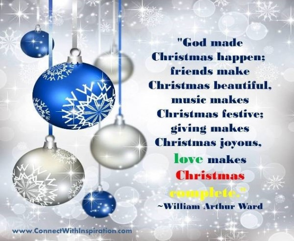 God made christmas happen friends make chirstmas beautiful music makes christmas fes
