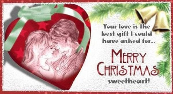 You love is the best gift i could have asked for merry christmas sweether