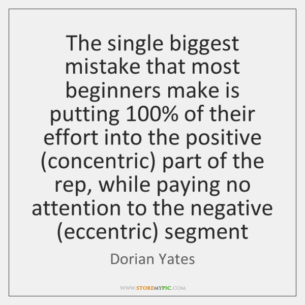 The single biggest mistake that most beginners make is putting 100% of their ...
