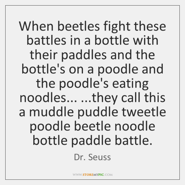 When beetles fight these battles in a bottle with their paddles and ...