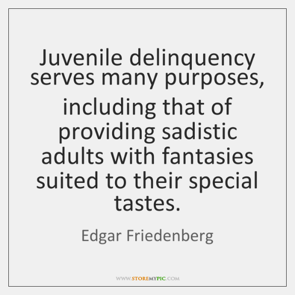 juvenile delinquency Read chapter the development of delinquency: even though youth crime rates have fallen since the mid-1990s, public fear and political rhetoric over the is.