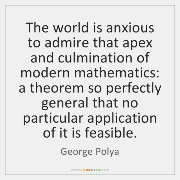 The world is anxious to admire that apex and culmination of modern ...