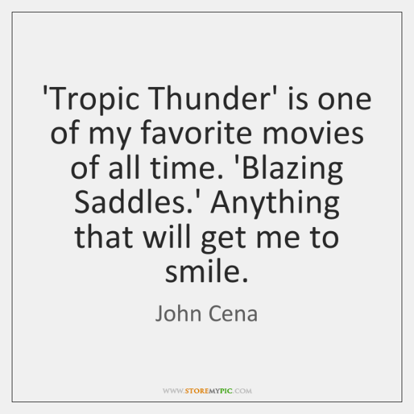 'Tropic Thunder' is one of my favorite movies of all time. 'Blazing ...