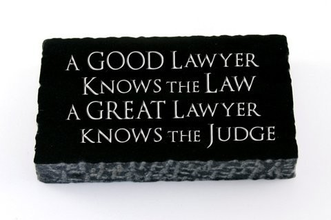 A good lawyer knows the law a great lawyer knows the judge